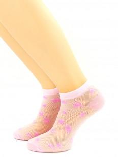 Женские короткие носки в сеточку