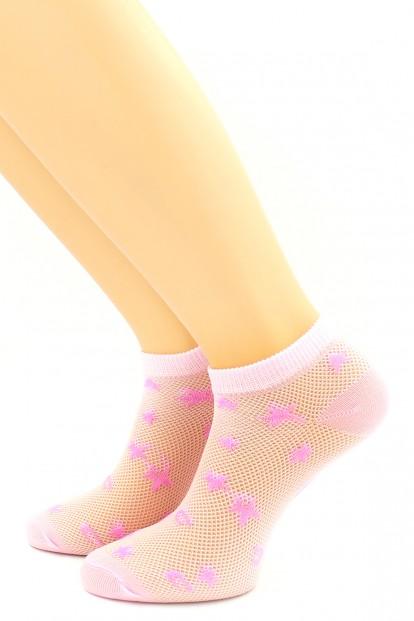 Женские носки в сеточку со звездами HOBBY LINE 383