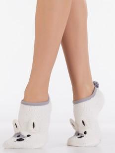 Махровые короткие женские носки с собачкой и хвостиком