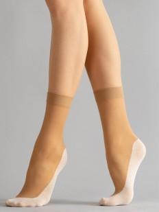Капроновые женские носки с контрастной усиленной стопой