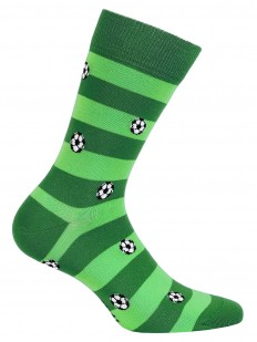 Прикольные зеленые мужские носки с футбольным рисунком
