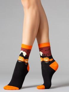 Женские носки на Хэллоуин с принтом тыквы