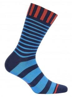 Цветные высокие мужские носки из хлопка в полоску
