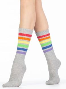 Женские хлопковые высокие носки Giulia WRL-002 melange