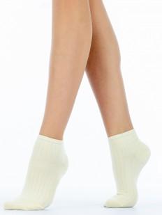 Женские короткие бесшовные носки в рельефную полоску