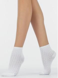 Ажурные хлопковые женские носки с перфорированным рисунком