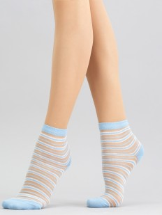 Цветные женские носки в прозрачную полоску