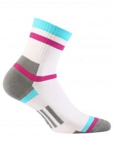 Женские хлопковые носки с геометрическим рисунком