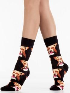 Высокие модные носки унисекс с лабрадором