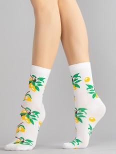 Цветные женские носки с оливками