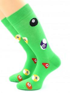 Высокие цветные носки для любителей бильярда
