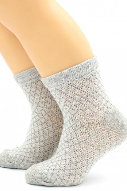 Детские хлопковые носки с имитацией вязки в сетку HOBBY LINE 123