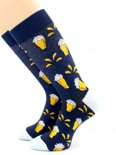 Высокие цветные носки унисекс с кружками пива