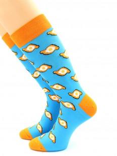 Цветные хлопковые носки унисекс с хачапури по-аджарски