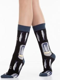 Стильные носки унисекс из хлопка с принтом шпорты