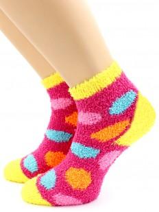 Детские разноцветные махровые носки с шариками