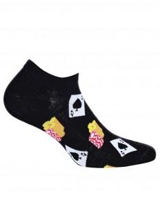 Короткие летние мужские носки с принтом казино