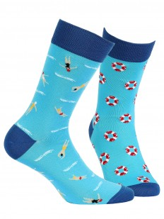 Прикольные носки унисекс с морским принтом
