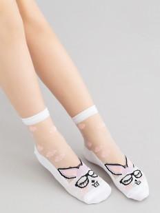 Фантазийные детские носки с кроликами