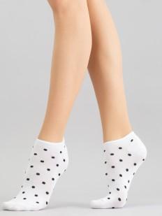 Короткие женские цветные носки в горошек