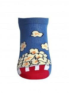 Летние мужские укороченные носки с принтом попкорн