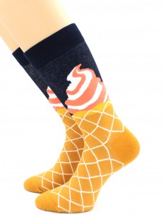 Цветные хлопковые носки с рожками мороженого