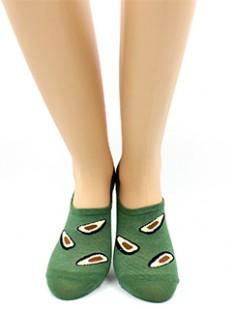 Летние женские укороченные носки с принтом авокадо