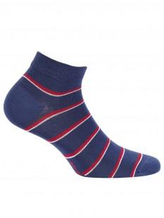Короткие хлопковые мужские носки в полоску