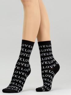Хлопковые высокие женские носки с надписями LOVE