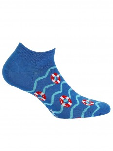 Летние короткие мужские носки с морским принтом