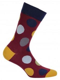 Прикольные цветные мужские носки в горошек хлопковые