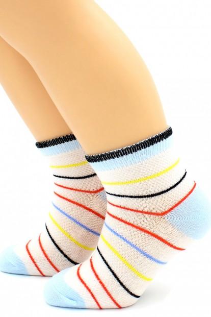 Детские хлопковые носки в полоску HOBBY LINE 128