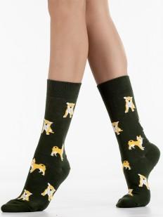 Оригинальные хлопковые носки унисекс с рисунком Акита-Ину