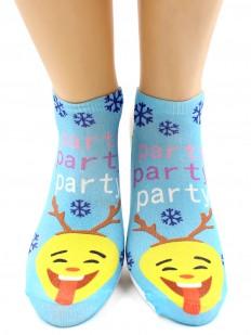 Прикольные новогодние женские носки со смайликами