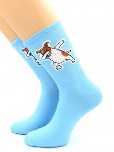 Цветные женские носки с песиком Джек-Рассел-Терьер