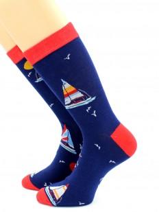 Высокие носки унисекс с рисунком в морской тематике
