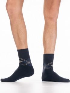Теплые мужские носки с ангорой и геометрическим принтом