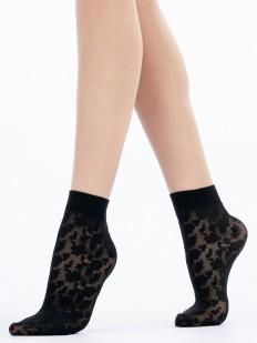 Модные капроновые женские носки с тканым цветочным рисунком