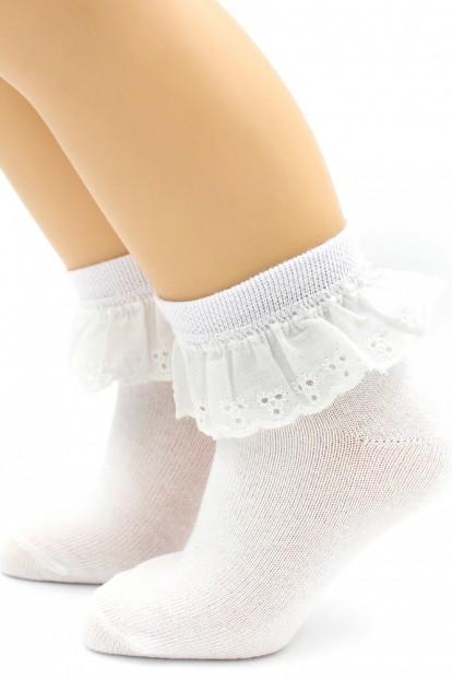 Детские ажурные носки с шитьем HOBBY LINE 857