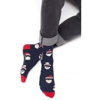 Цветные мужские носки с новогодним принтом
