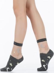 Детские модные носки со звездами и луной