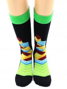 Высокие цветные носки с конструктором LEGO