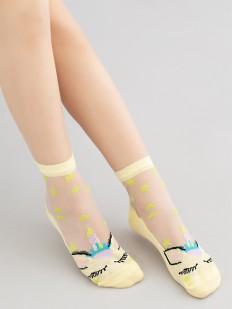 Фантазийные детские носки с единорогами и звездочками