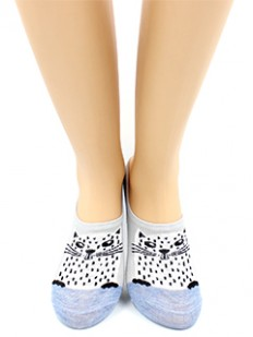 Короткие женские хлопковые носки с кошечками