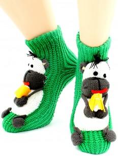 Вязаные носки Hobby Line 088