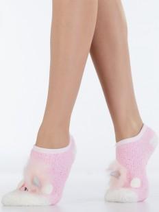 Махровые короткие женские носки с единорогом