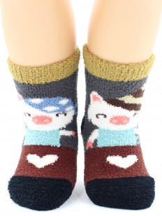 Махровые носки HOBBY LINE 3332-2