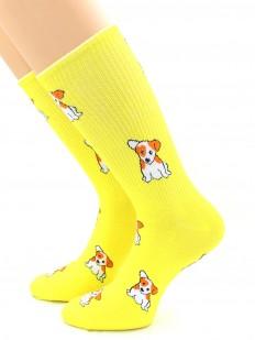 Яркие носки унисекс с собачкой Джек-рассел-терьер