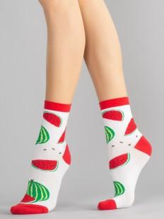 Цветные женские носки с арбузами