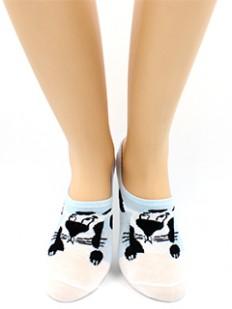 Короткие женские носки из хлопка с принтом собачки
